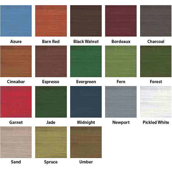 Lifeline Accents Exterior Wood Stain, Outdoor Wood Stain Colors