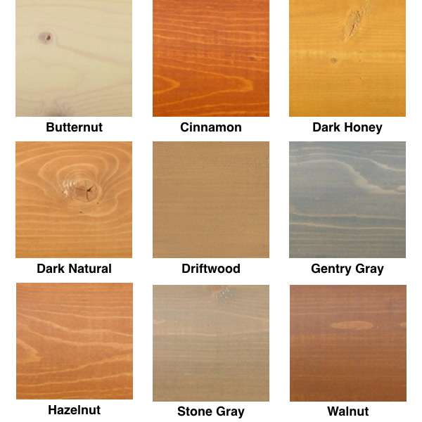 Lifeline Exterior Wood Stain Colors