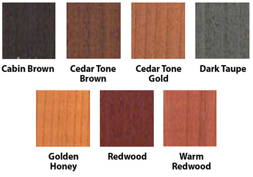 Log-Gevity Log Finish Coat Colors
