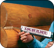 Sashco Log Builder Caulking Application