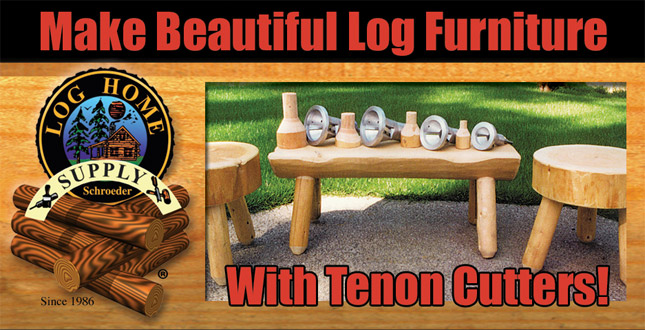 Superieur Tenon Cutters For Log Furniture