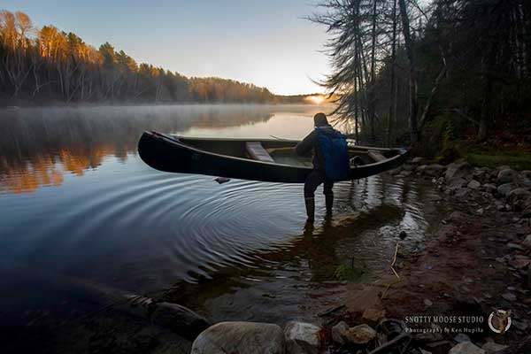 October Morn on Sandpit Lake by Snotty Moose Studio