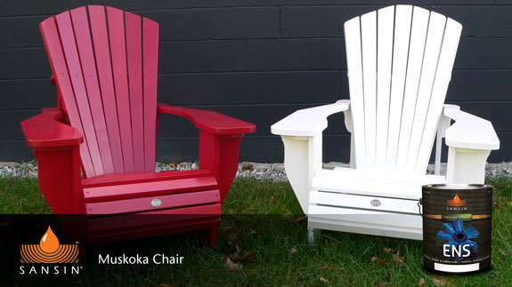 Sansin ENS wood stain on Muskoka Chairs