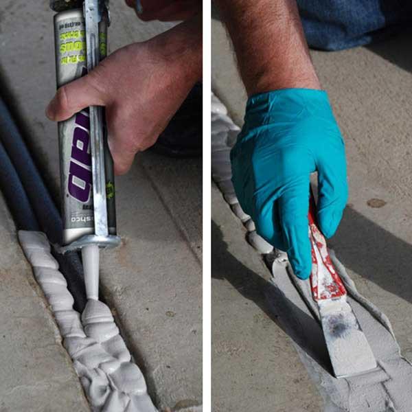 Slab Concrete Sealant Concrete Caulking That Remains