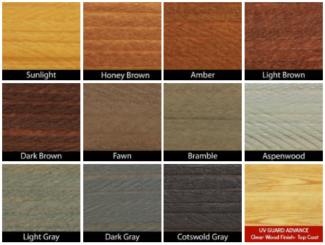 UV Guard Wood Finish Colors