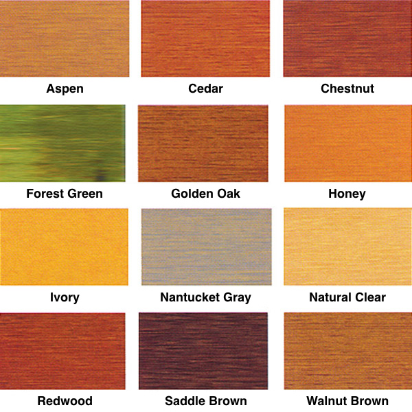 WR-5 Log Home Stain Colors