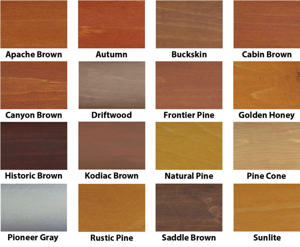 WeatherSeal Log Home Stain Color Swatch