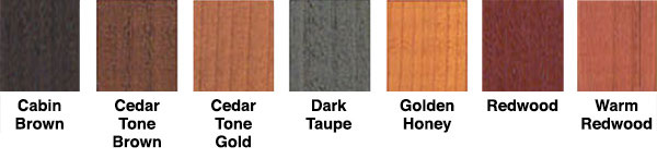 X-100 Deck Stain Colors